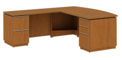 "Left L-Desk 72"" Full Ped"
