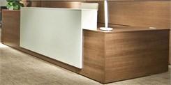 Contrasts Custom L-Shaped Lobby Desk, Left Return