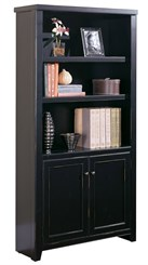 Black Lower Door Bookcase
