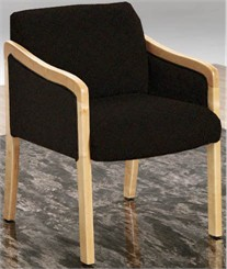 Sculpted Exposed Wood Reception Chair