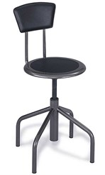 Low Base Diesel Stool with Backrest