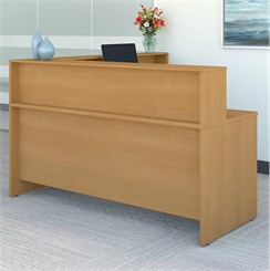 Reception Desk w/Riser Stocked in 6 Color Combinations!