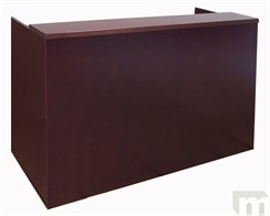 Mahogany Veneer Rectangular Reception Desk