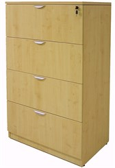 Maple 4-Drawer Lateral File