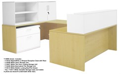 Structures Maple & White  U-Shaped Reception Desk