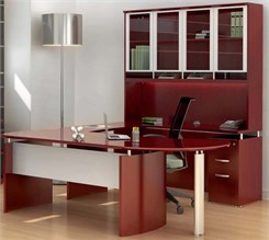 Manager's U-Workstation w/ Hutch - Right Bridge