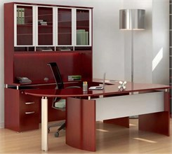 Manager's U-Workstation w/ Hutch - Left Bridge