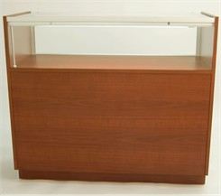 QuickShip Merchandise Display Case with Open Storage