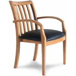 Mercado Slat Back Leather Guest Chair