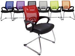 Leather & Mesh Color Burst Guest/Reception Chairs