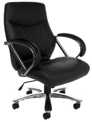 500 Lb. Capacity Mid Back Chair In  Cream or Black