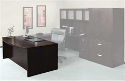"Mira Series - 72"" Bow Front Desk"