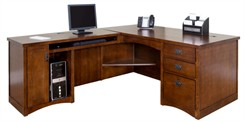 Mission Executive L-Desk With Right Computer Wing