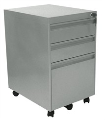 Matching Silver 3-Drawer Mobile File