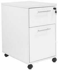 White Mobile Locking Box/File Drawer