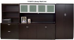 Mocha Laminate Modular Storage Components - 2-Door Storage Cabinet