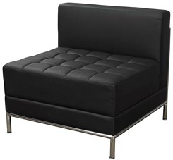 Black Tufted Modular Armless Chair