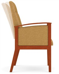 Motion Extended Back Chair  in Upgrade Fabric or Healthcare Vinyl