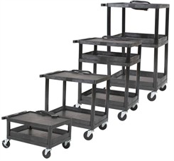 Multi-Height Resin Utility Cart