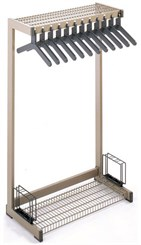 New Generation Floor Racks -- 3'  Wide 12 Hanger Rack with Boot, Hat & Umbrella Holder