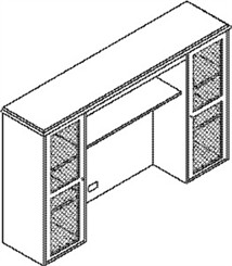 Overhead Hutch w/Wire Mesh Doors