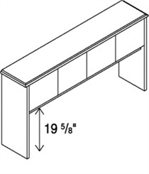 4-Door Overhead Hutch