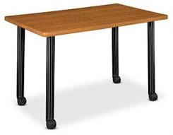 "48"" W x 24""D Rectangular Table W/Locking Casters"