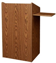 Non-Sound Lectern w/Sliding Shelf