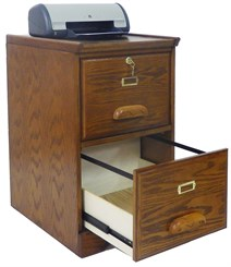 Y10796 Oak Two Drawer File Cabinet