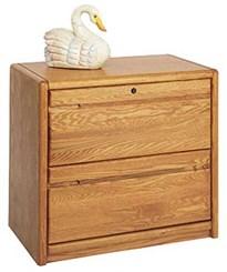 Oak 2-Drawer Lateral File