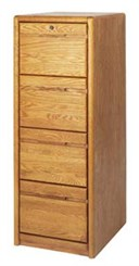 Oak 4-Drawer Vertical File