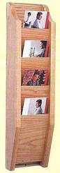 Oak Brochure Rack