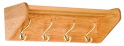Oak Coat & Hat Racks -- 4-Hook Coat & Hat Rack