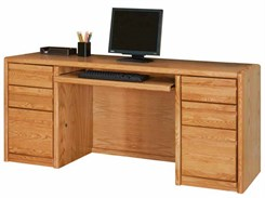 Oak Executive Computer Credenza
