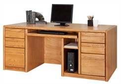 Oak Executive Computer Desk