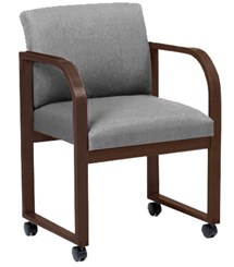 Oak Frame Conference Chair with Casters