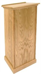 Oak Full Pedestal Lectern with Flush Front or Cross