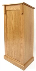 Oak Full Pedestal Lectern with Decorative Trim