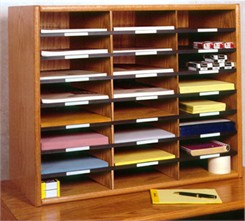 Real Wood Literature Organizer
