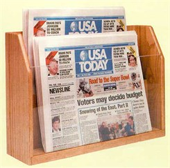 Oak Newspaper Rack