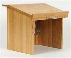 Oak Table Top Folding Lectern