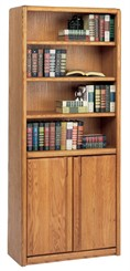 Oak Two-Door Wall Unit