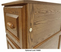 Optional Installed Drawer Lock