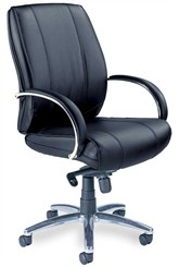 Optima Leather Mid-Back Chair