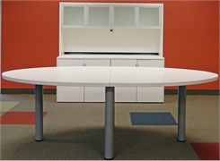 Oval Conference Table in White, Maple or Mocha - 8' Length- See Other Sizes