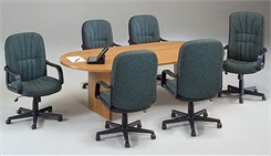 "Oval Racetrack Conference Series -- 36""x72"" Conference Table"