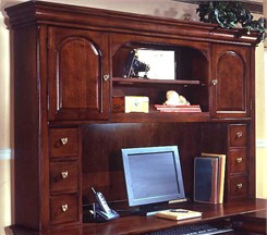 Overhead Storage Hutch for Computer L-Shaped Desk