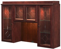 Overhead Storage Hutch w/Glass Doors w/o Return Mouldings