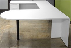 White Peninsula U-Shaped Workstation