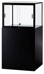 QuickShip Pedestal Top Glass Display Case